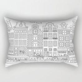 Amsterdam Line Art Rectangular Pillow
