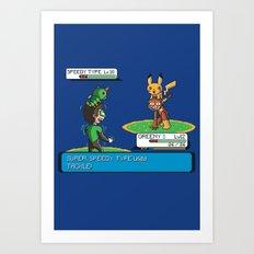 Super Speedy Type Art Print
