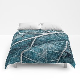 Frozen Winter Leaf Comforters