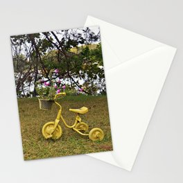 Yellow Bikes Stationery Cards