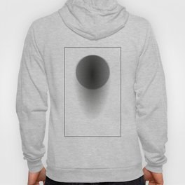 Abstract black sphere with shadow - Vector Hoody