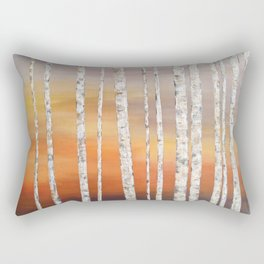 Sunrise Birches Rectangular Pillow