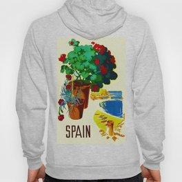 Retro Travel Poster - Spain Hoody