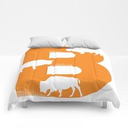 B is for Bison - Animal Alphabet Series Comforters