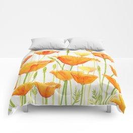 Blossom Poppies Comforters