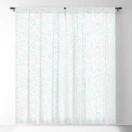 Splatter - Orange Blue Colorway Blackout Curtain