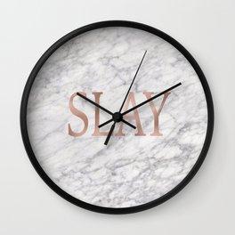 Slay rose gold marble Wall Clock