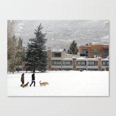 Snow Dogs I Canvas Print