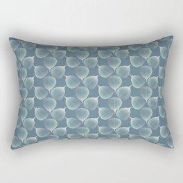 The Silver Breath of Winter Rectangular Pillow