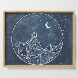 Night Court moon and stars Serving Tray