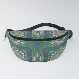 Celtic Cross - Abstract Art by Fluid Nature Fanny Pack