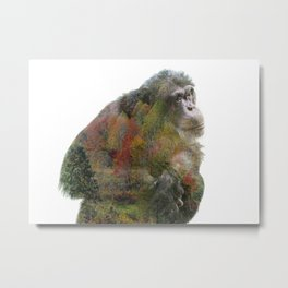 Taz Double Exposure Metal Print