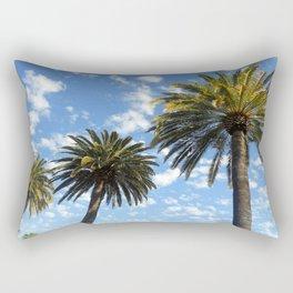 Three Palm Trees Rectangular Pillow