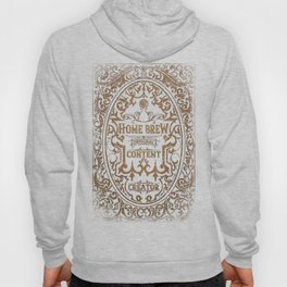 D20 RPG Home Brew Distressed Whiskey Label Hoody