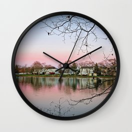 Landscape With Branches Wall Clock
