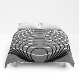 Black Over White Over Gray Comforters