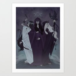 Triple Goddess Art Print