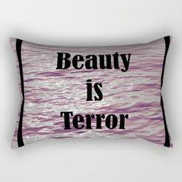 BEAUTY IS TERROR | THE SECRET HISTORY BY DONNA TARTT Rectangular Pillow