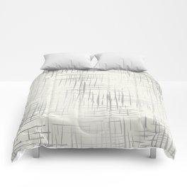 Crosshatch Silver Comforters
