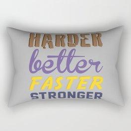 Harder Better Faster Stronger Rectangular Pillow