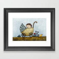 Happy Boy Framed Art Print