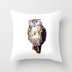 Eule Throw Pillow