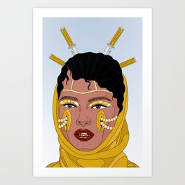 Mind is a weapon Art Print