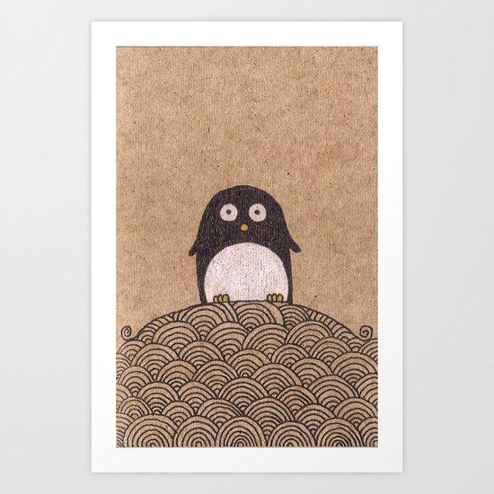 King Penguin of Penguin Nation Art Print