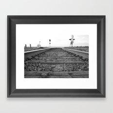 Down The Tracks Framed Art Print