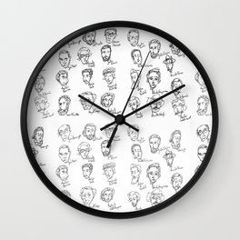Famous Portuguese Writers Wall Clock