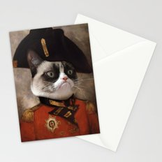 Angry cat. Grumpy General Cat.  Stationery Cards