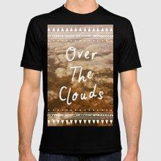 Clouds MEDIUM Black Mens Fitted Tee