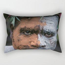 Papua New Guinea Exotic Sing-Sing Performer Rectangular Pillow