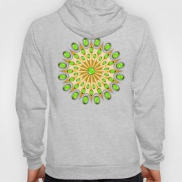 Mandala Gold and Emeralds Hoody