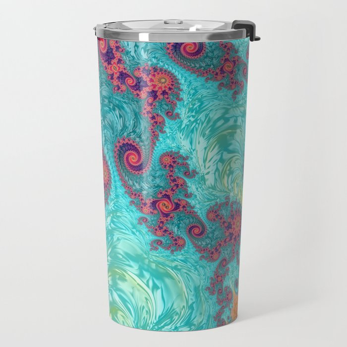 Rainbow Fractal Travel Mug