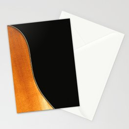 Acoustic Guitar Abstract Curve no 3. Stationery Cards