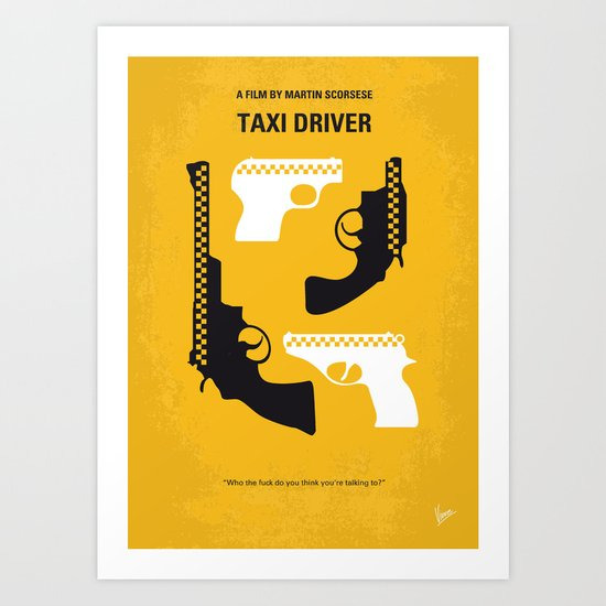 No087 My Taxi Driver minimal movie poster Art Print