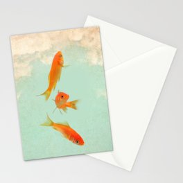 Goldfish in the sky Stationery Cards