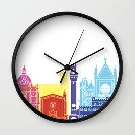 Siena skyline pop Wall Clock