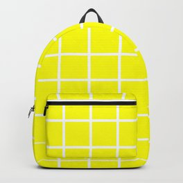 GRID DESIGN (WHITE-YELLOW) Backpack