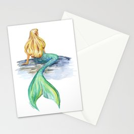 Mermaid Watercolor Stationery Cards