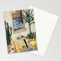 Cats Cacti and a Dog Stationery Cards