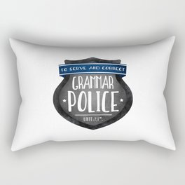 Grammar Police Rectangular Pillow