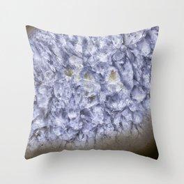 macro geode crystals Throw Pillow