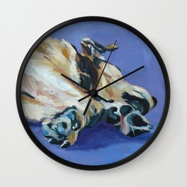 A Dog's Paws Portrait Wall Clock