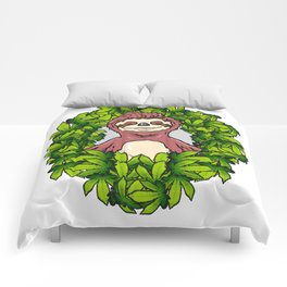 Stoned Sloth | Weed Cannabis THC CBD Ganja Comforters