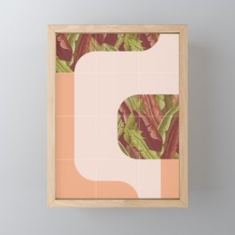 Mid-Century Tropical Mood #society6 #tropical Framed Mini Art Print