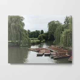 Punting Down the River Metal Print