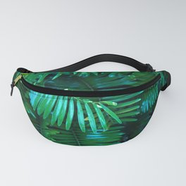 Green Palm Leaves Fanny Pack