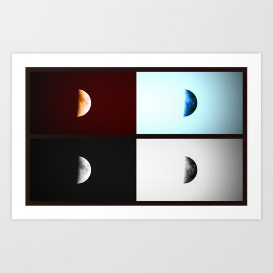 Glowing Waxing Crescent II Art Print